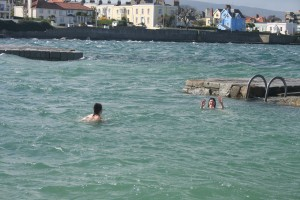 Aoibheann waving not drowing